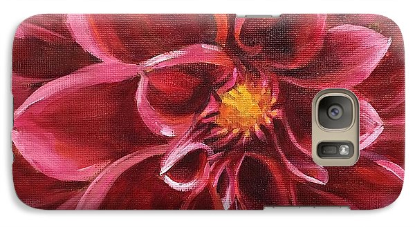 Galaxy Case featuring the painting Pink Dahlia by Pam Talley