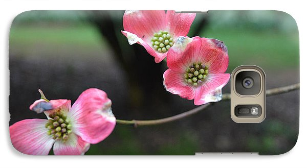Galaxy Case featuring the photograph Pink Dogwood by Linda Geiger