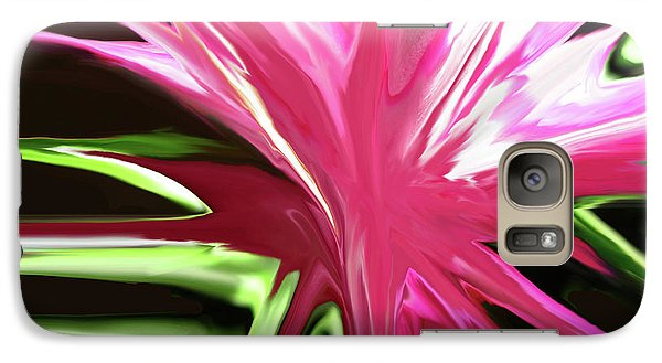 Galaxy Case featuring the digital art Pink Explosion by Mary Bedy