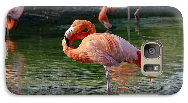 Galaxy Case featuring the photograph Pink Flamingo by Scott Carruthers