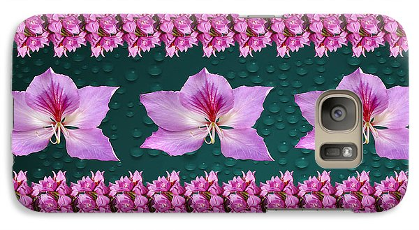 Galaxy Case featuring the photograph Pink Flower Arrangement by Gary Crockett