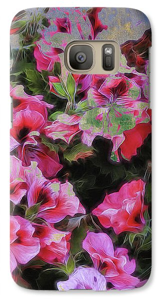 Galaxy Case featuring the photograph Pink Flower Fantasy by Ann Powell