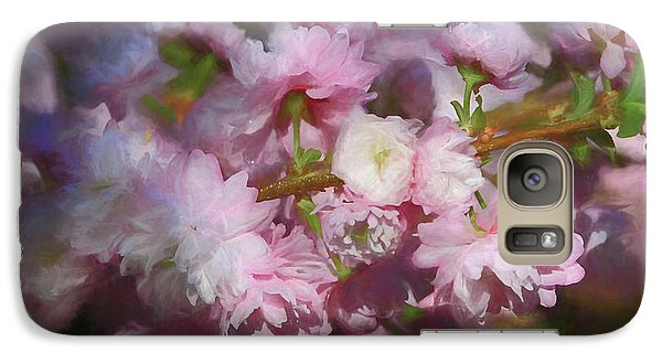 Galaxy Case featuring the photograph Pink Flowering Almond by Donna Kennedy
