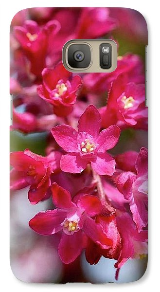 Pink Flowers Galaxy S7 Case