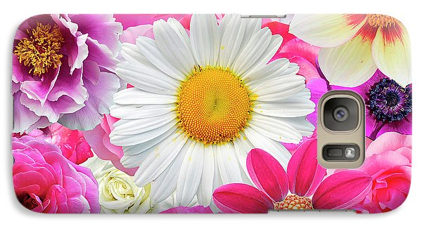 Pink Flowers  Galaxy Case by Gloria Sanchez