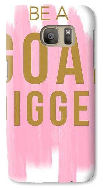 Pink Goal Digger Galaxy S7 Case by Elizabeth Taylor