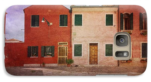 Galaxy Case featuring the photograph Pink Houses by Anne Kotan