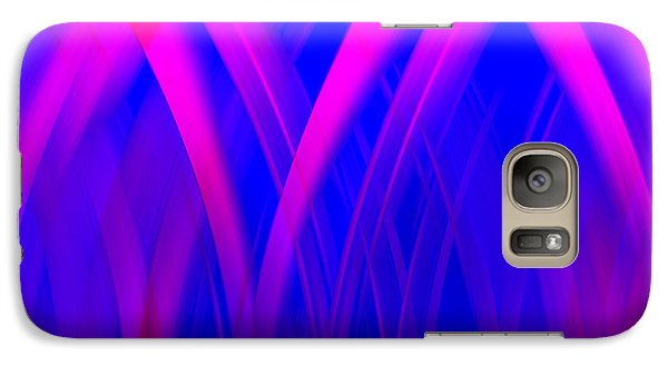 Galaxy Case featuring the digital art Pink Lacing by Carolyn Marshall