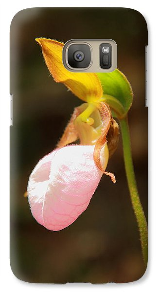 Galaxy Case featuring the photograph Pink Lady Slipper by Roupen  Baker