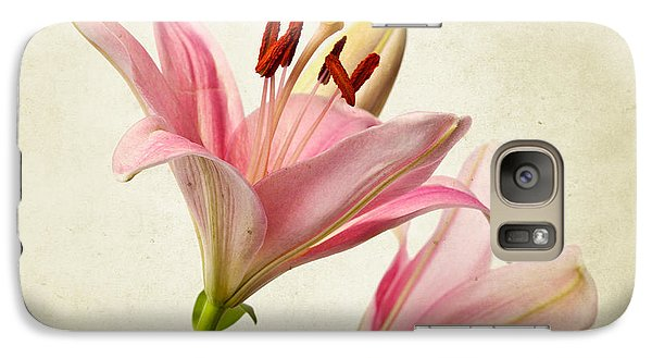 Lily Galaxy S7 Case - Pink Lilies by Nailia Schwarz