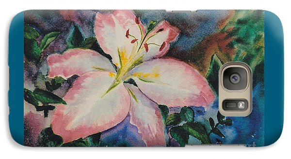 Galaxy Case featuring the painting Pink Lily by Brenda Thour