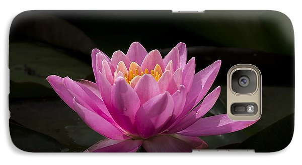 Galaxy Case featuring the photograph Pink Lotus by Andrea Silies