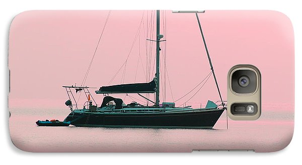 Galaxy Case featuring the photograph Pink Mediterranean by Richard Patmore