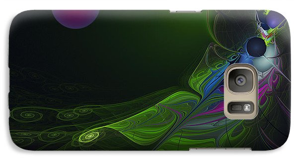 Galaxy Case featuring the digital art Pink Moon by Karin Kuhlmann