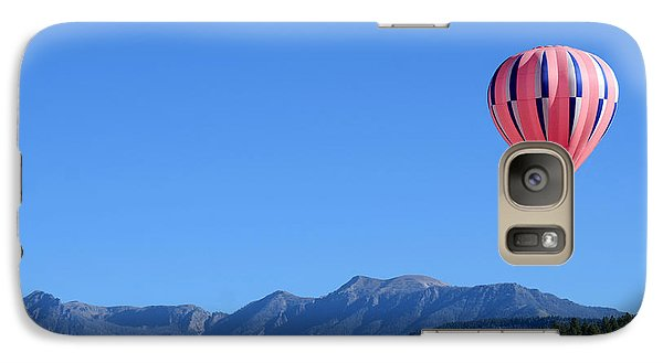 Galaxy Case featuring the photograph Pink On Blue by Kevin Munro