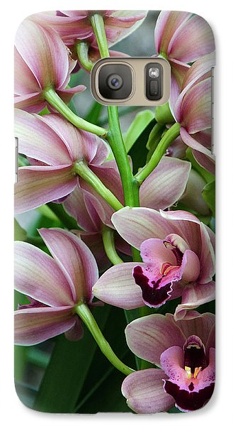 Galaxy Case featuring the photograph Pink Orchids 2 by Ann Bridges