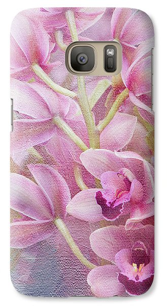 Galaxy Case featuring the photograph Pink Orchids by Ann Bridges