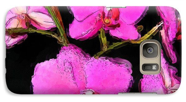 Galaxy Case featuring the photograph Pink Orchids by Dennis Lundell