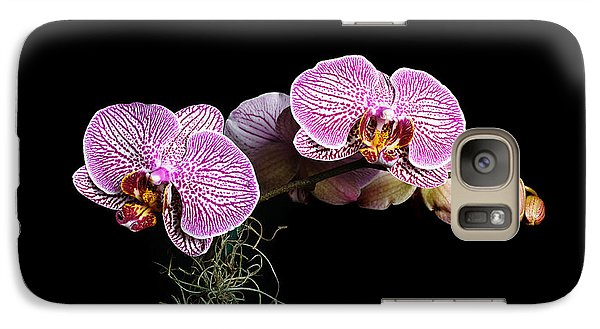 Galaxy Case featuring the photograph Pink Orchids by Gary Dean Mercer Clark