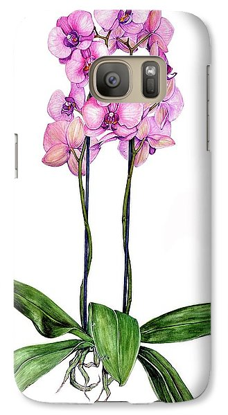 Galaxy Case featuring the painting Pink Orchids by Heidi Kriel