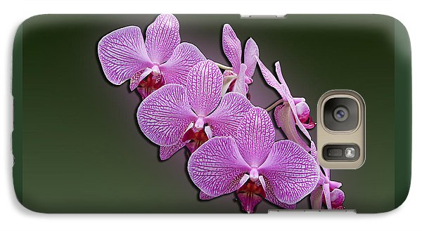 Galaxy Case featuring the photograph Pink Orchids by John Haldane