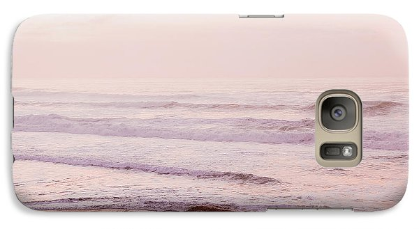 Galaxy Case featuring the photograph Pink Pacific Beach by Bonnie Bruno