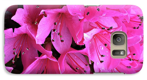 Galaxy Case featuring the photograph Pink Passion In The Rain by Sherry Hallemeier