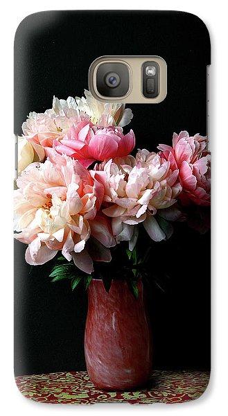 Pink Peonies In Pink Vase Galaxy S7 Case
