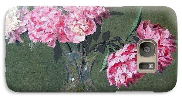 Pink Peonies Walking The Plank Galaxy S7 Case