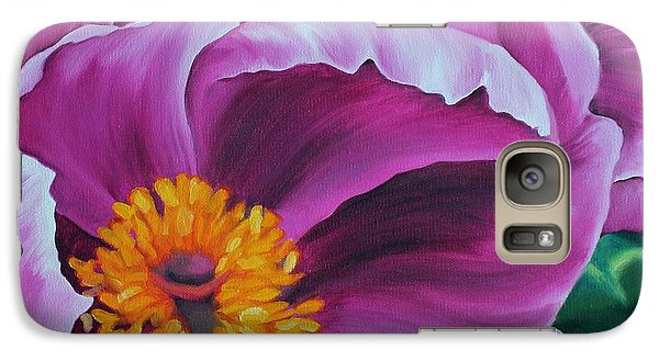 Galaxy Case featuring the painting Pink Peony by Jindra Noewi