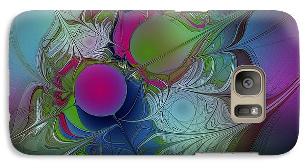 Galaxy Case featuring the digital art Pink Ping Pong Ball by Karin Kuhlmann