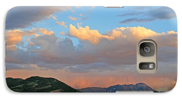 Galaxy Case featuring the photograph Pink Rain Over The Sleeping Indian by Paula Guttilla