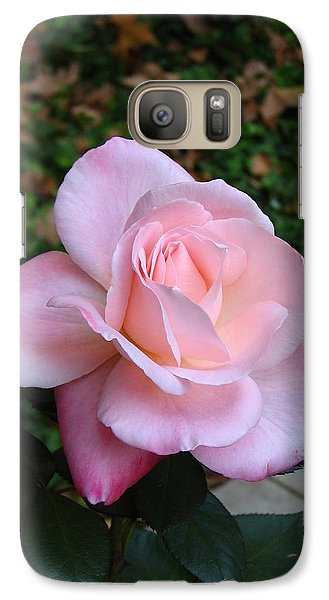 Galaxy Case featuring the photograph Pink Rose by Carla Parris