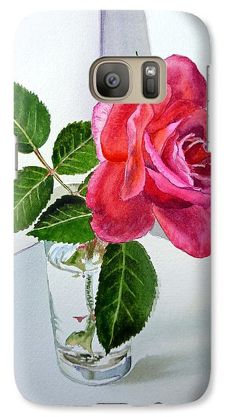 Rose Galaxy S7 Case - Pink Rose by Irina Sztukowski