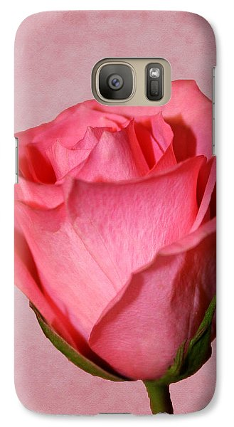 Galaxy Case featuring the photograph Pink Rose by Judy Vincent