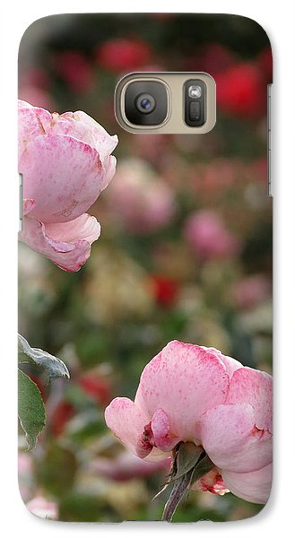 Galaxy Case featuring the photograph Pink Roses by Laurel Powell