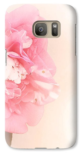 Galaxy Case featuring the photograph Pink Ruffled Camellia by Cindy Garber Iverson