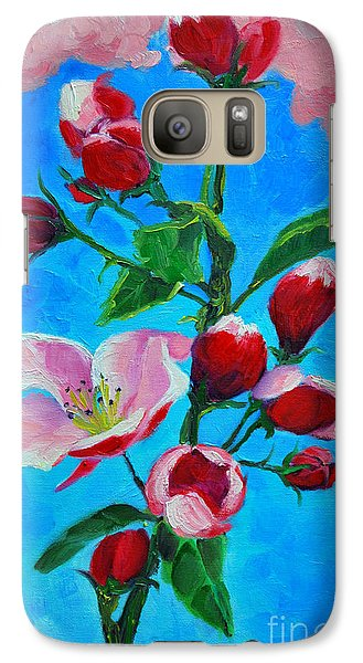 Galaxy Case featuring the painting Pink Spring by Ana Maria Edulescu