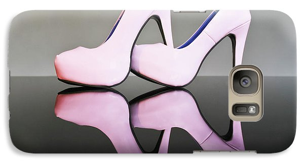 Galaxy Case featuring the photograph Pink Stiletto Shoes by Terri Waters