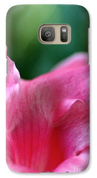 Galaxy Case featuring the photograph Pink To Light  by Cathy Dee Janes