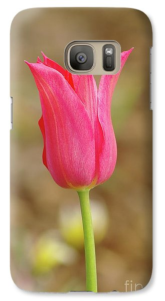 Galaxy Case featuring the photograph Pink Tulip by Dariusz Gudowicz