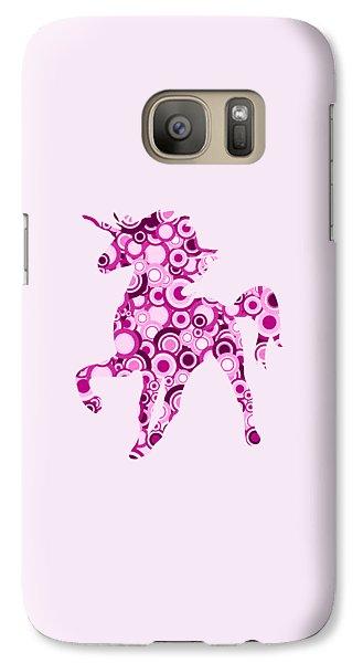 Pink Unicorn - Animal Art Galaxy S7 Case