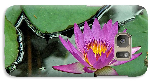 Galaxy Case featuring the photograph Pink Water Lily by Judy Vincent