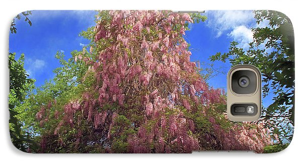 Galaxy Case featuring the photograph Pink Wisteria by Donna Kennedy