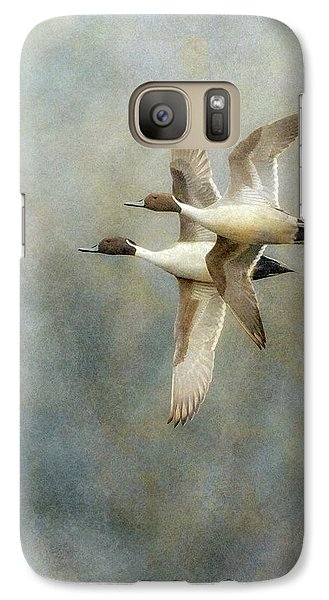 Galaxy Case featuring the photograph Pintail Duo by Angie Vogel