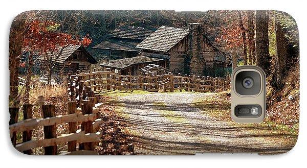 Galaxy Case featuring the photograph Pioneer Farm by Brenda Bostic