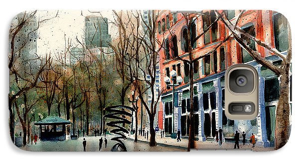 Galaxy Case featuring the painting Pioneer Square by Marti Green
