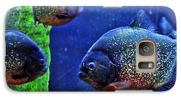 Galaxy Case featuring the photograph Piranha Blue by Jan Amiss Photography