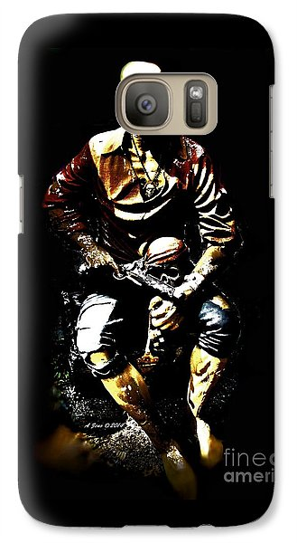 Galaxy Case featuring the photograph Pirate And Skull by Annie Zeno