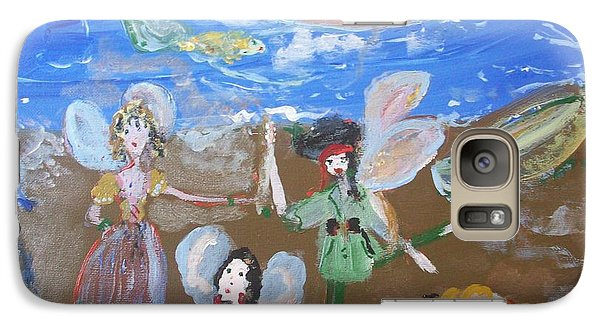 Galaxy Case featuring the painting Pirate Fairies by Judith Desrosiers